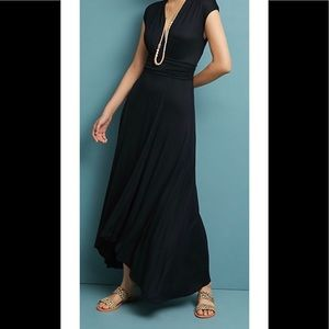 Anthropologie Maeve Black Maxi Dreas